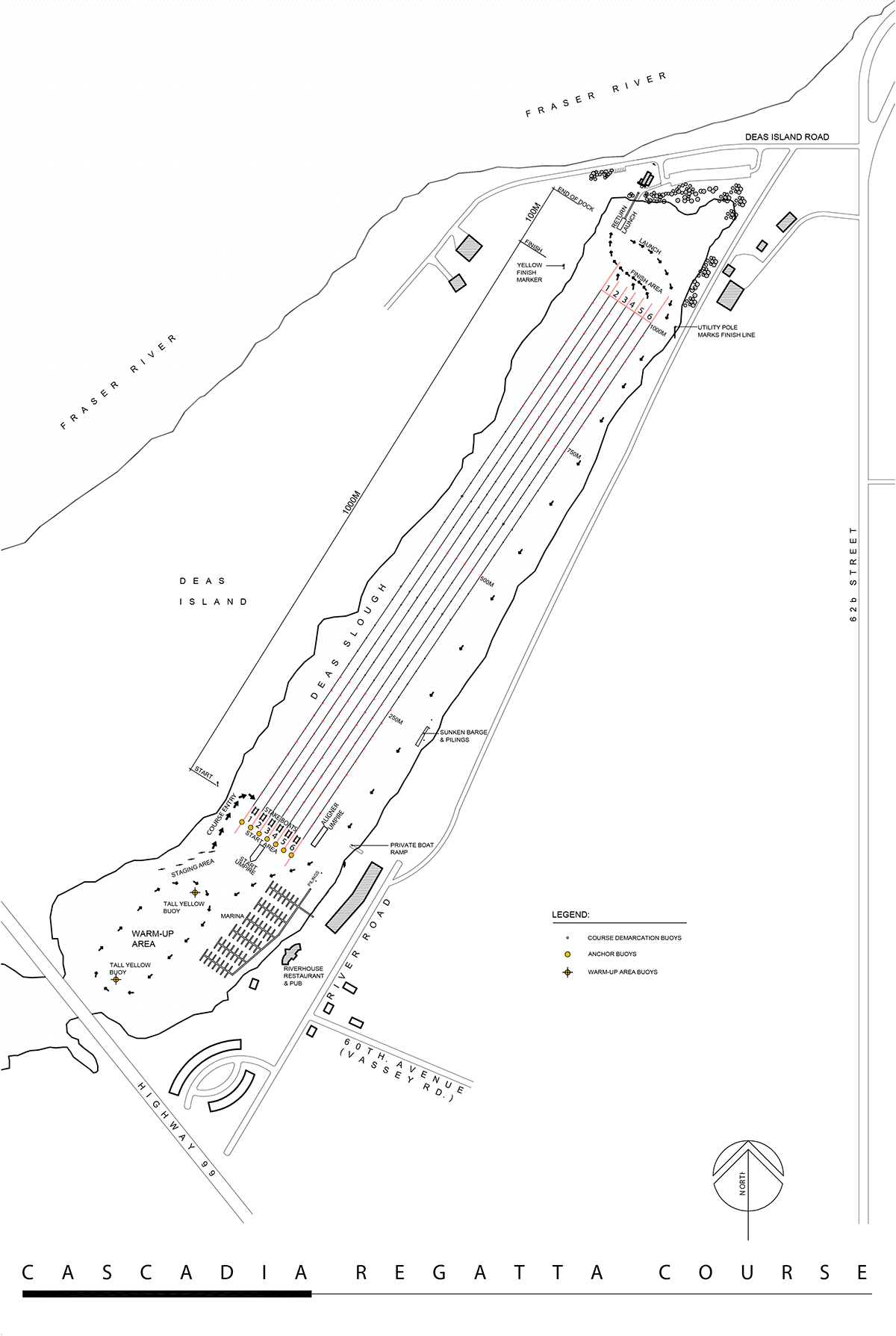 Delta Course Layout Map